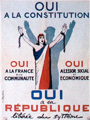 Promulgation de la Constitution et naissance de la Ve République