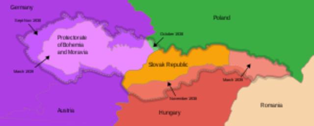 German invasion of Chechoslovakia (Bohemia&Moravia)