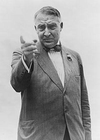 Warren Harding inaugurated as president