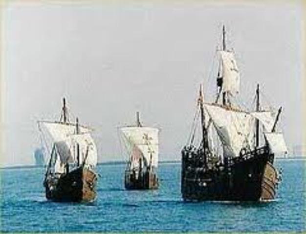 Land Ho! Columbus sights land.