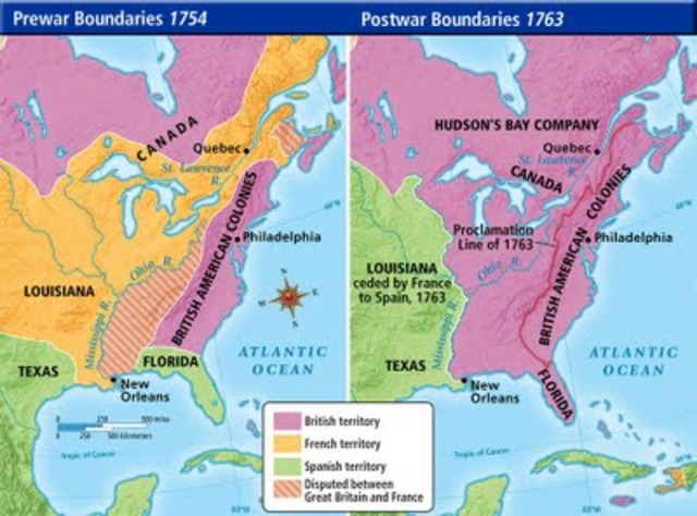 French & Indian War ends
