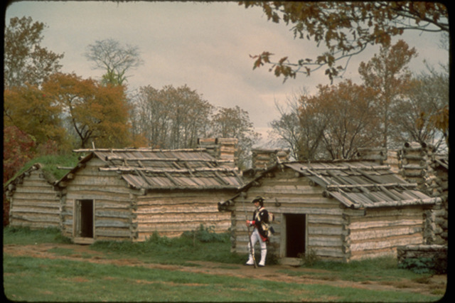 Soldiers break camp at Valley Forge, PA