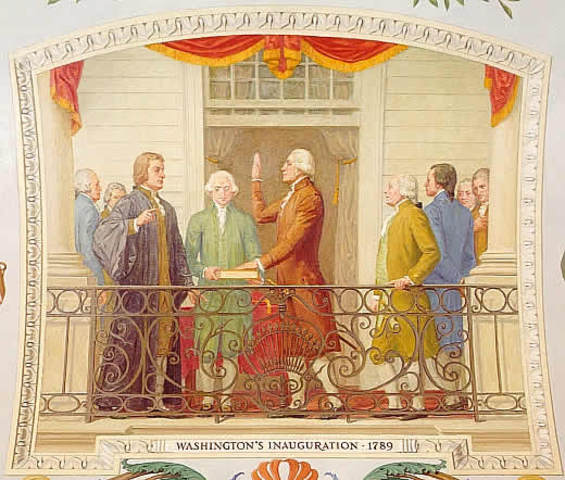 George Washington becomes America's first president