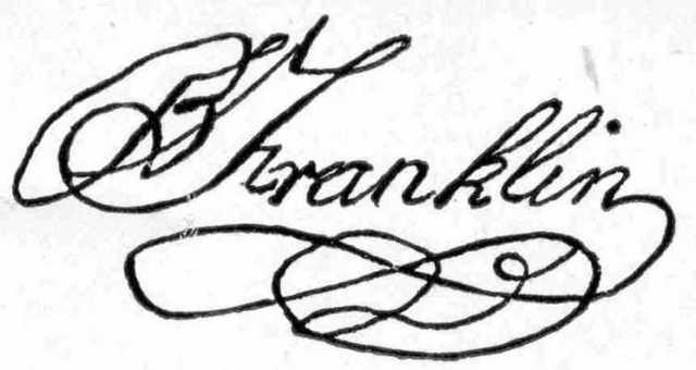 Benjamin Franklin dies
