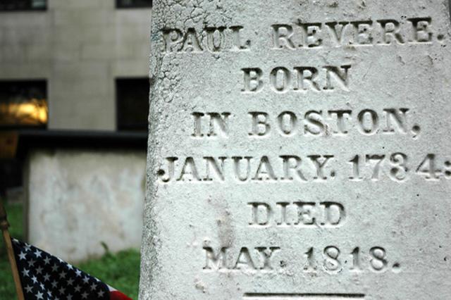 Paul Revere dies