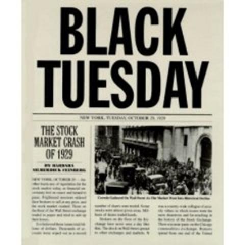 Black Tuesday: Stock Market Sets off Great Depression 24 October 1929