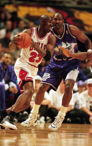 Michael Jordan and the Bulls win another championship against the Utah Jazz. This is their 5th. He also was MVP for the Finals.