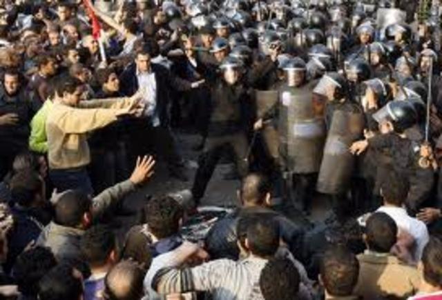 Mass Protest Against Mubarak Regime