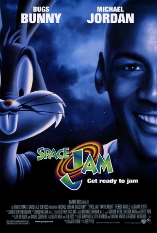 Michael Jordan's first movie was released, Space Jam. He acted with the Lonney Tunes characters. It got $90,418,342 for the movie.