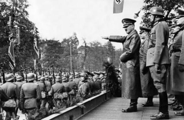 Hitler declares war on the United States.