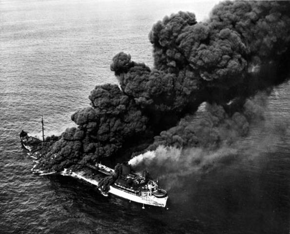 Germans begin a U-boat offensive along east coast of USA.