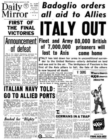 German and Italian troops surrender in North Africa