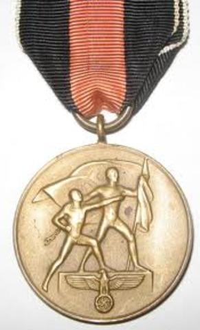 The Sudetenland Commemorative Medal
