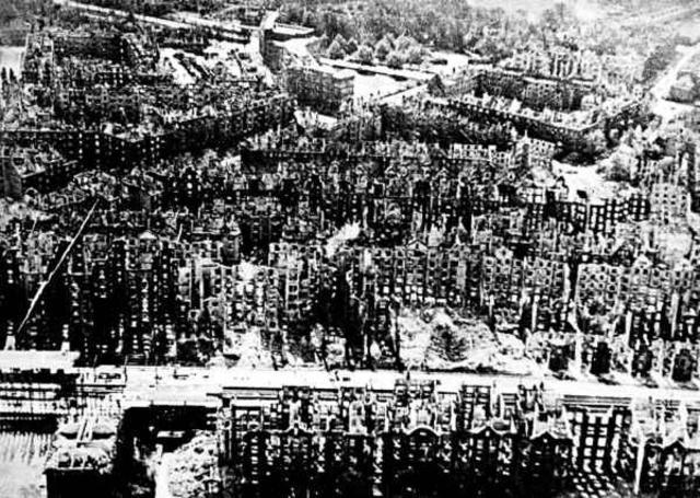 Allied air raid causes a firestorm in Hamburg.