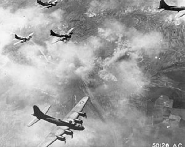 Italy declares war on Germany; Second American air raid on Schweinfurt.
