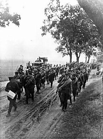 Soviet troops advance into Poland.