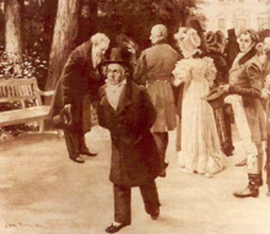 Ludwig van Beethoven va tenir els primers símptomes de sordesa