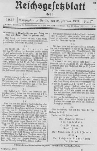 Reichstag Fire Decree (Neil)