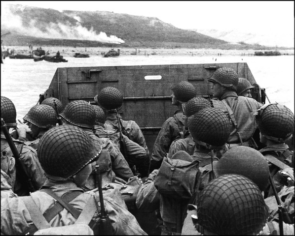 D-Day landings on the northern coast of France.