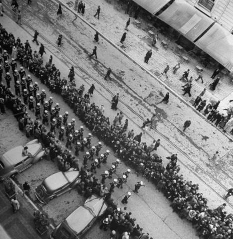 Allies liberate Athens; General Rommel commits suicide.