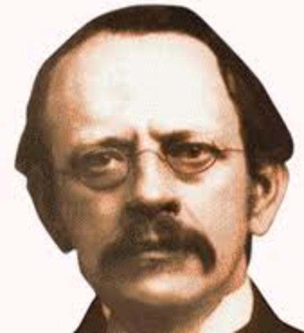 J.J. Thomson descubre la existencia de electrones.