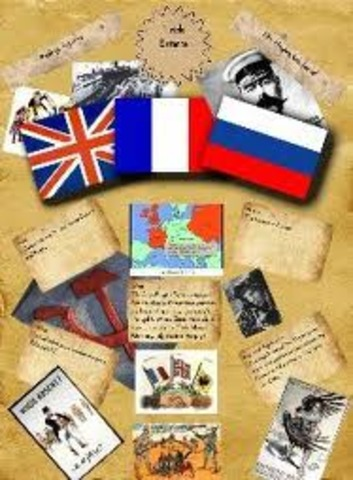 Britain made another entente with France and Russia, forming the Triple Entente.