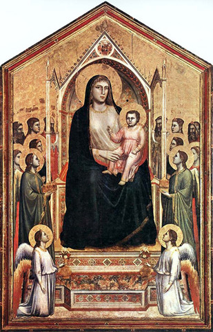 Virgin and Child Enthroned - Giotto