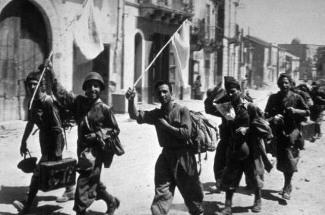 German and Itatlian troops surrender in French North Africa