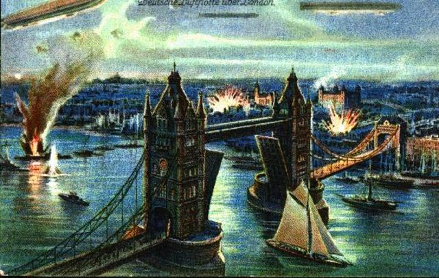 Zeppelins Attacking London