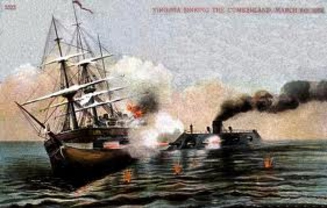 First ironclad battle in history