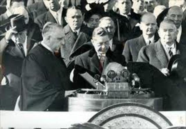 Harry Truman is inaugurated