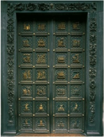 South doors of the Baptistry of San Giovanni - Pisano