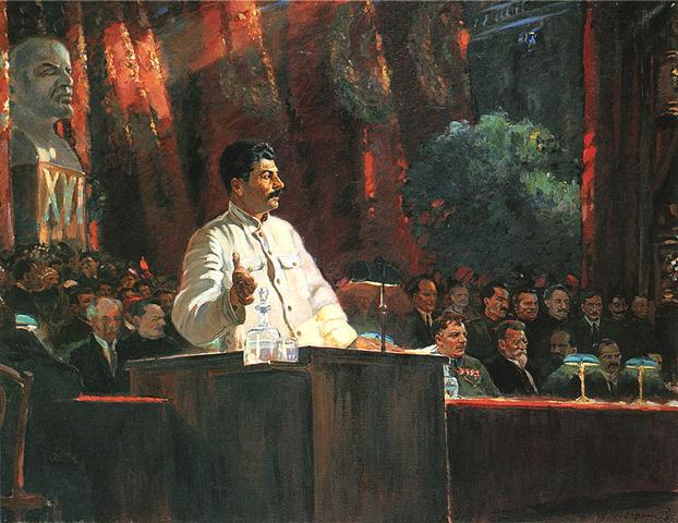 Stalin makes a Speech