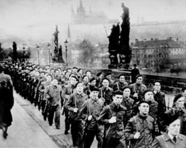 Communists seize power in Czechoslovakia
