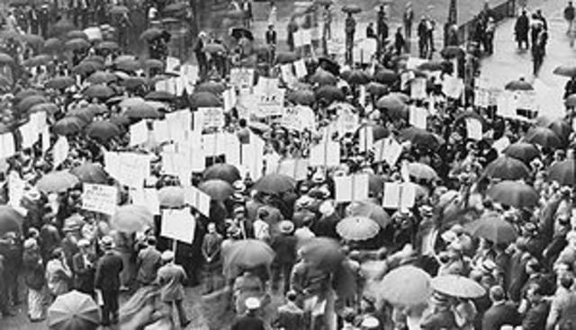Colapso bursátil y la Gran Depresión