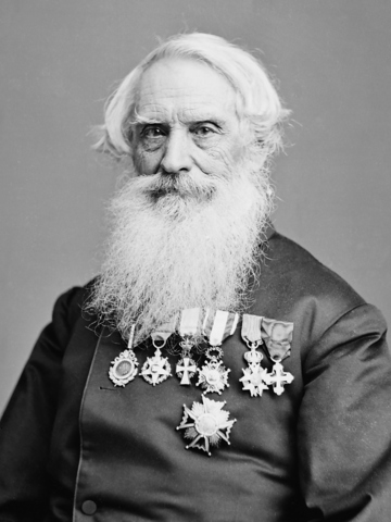 Samuel Morse debuts the telegraph