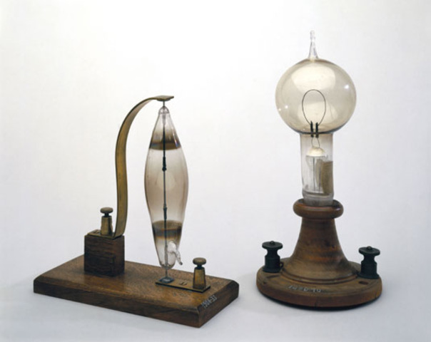 about a light? Edison invents the incandescent light bulb.