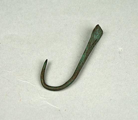 Copper fish hooks (5000 B.C.)