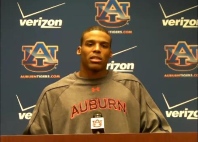 Cam Newton signs scholarship with Auburn