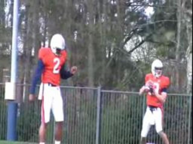Cam Newton leads Auburn into fall practice
