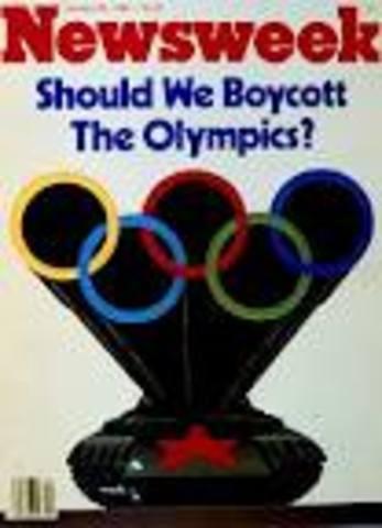 USA Boucotts Moscow Olympicss