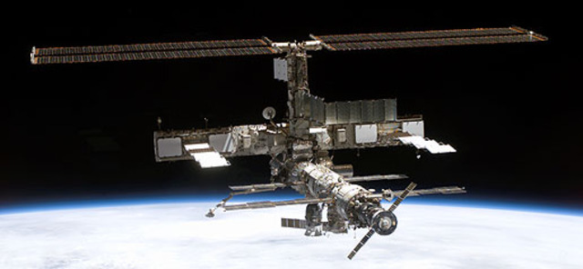 International Space Station Construction in Space
