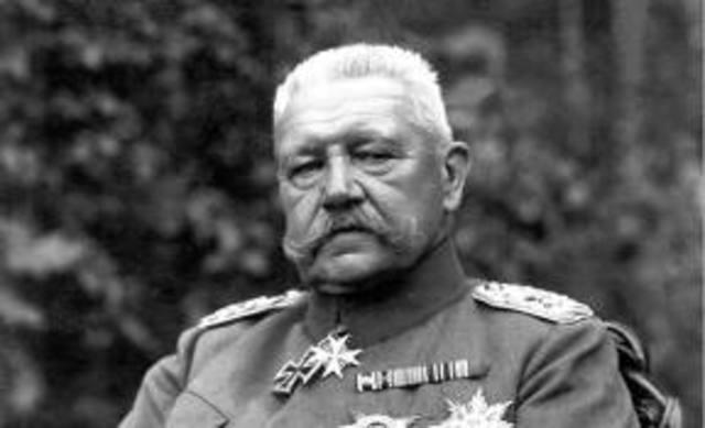 Hitler succeeds in ailing Hindenburg.