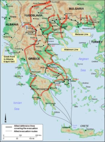 Invasion of Greece April 6, 1941