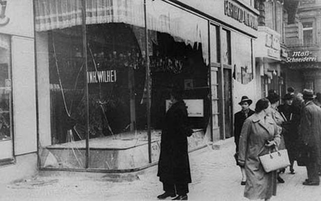 Reichskristallnacht Pogrom on 9-10 November 1938