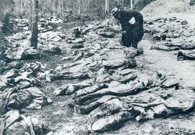 Katyn Massacre in April and May 1940