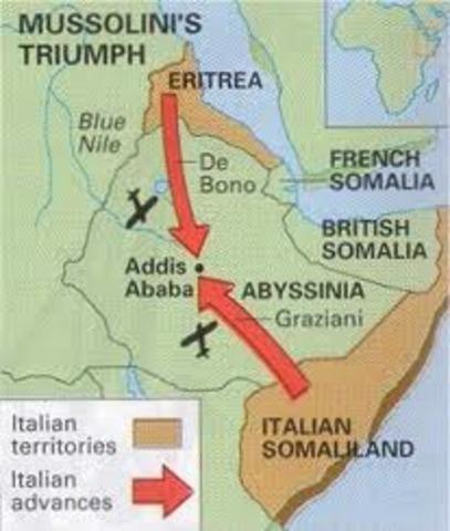 Mussolini Invades Ethiopia (Abyssina)