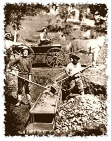 1854 Gold Rush settlement