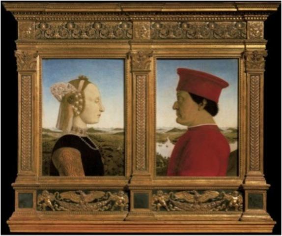 Double Portrait of Battista Sforza and Federico Da Montefeltro