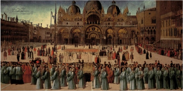 Procession of the Relic of the True Cross Before the Church of St Mark